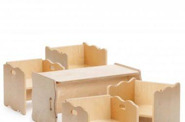 Drewniane mebelki do pokoju dziecięcego wielofunkcyjne