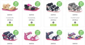 Sandały dla dziewczynek buty na lato Bartek