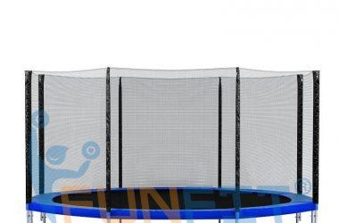 Duża trampolina ogrodowa składana 490 cm z siatką i drabinką