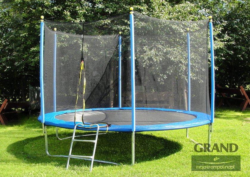 Duża trampolina do ogrodu dla dzieci