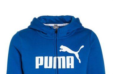 Dresowa kurtka dziecięca PUMA niebieska
