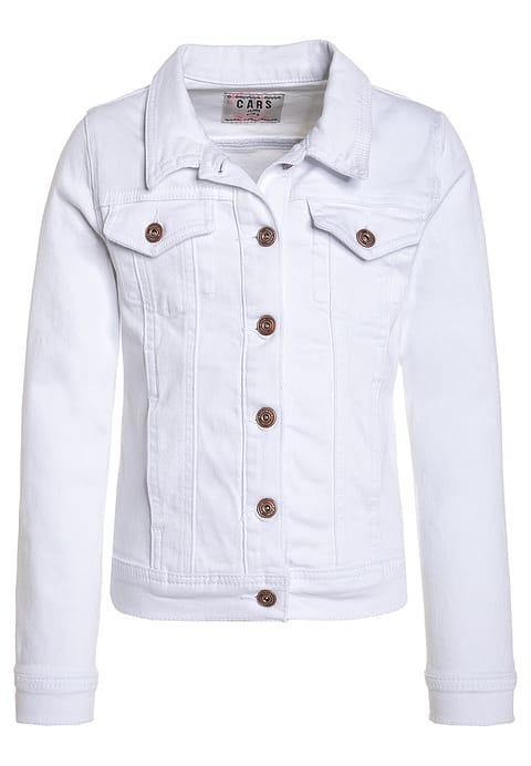 Przejściowa kurtka jeansowa biała dla dziewczynki