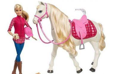 Interaktywny Koń Barbie + lalka