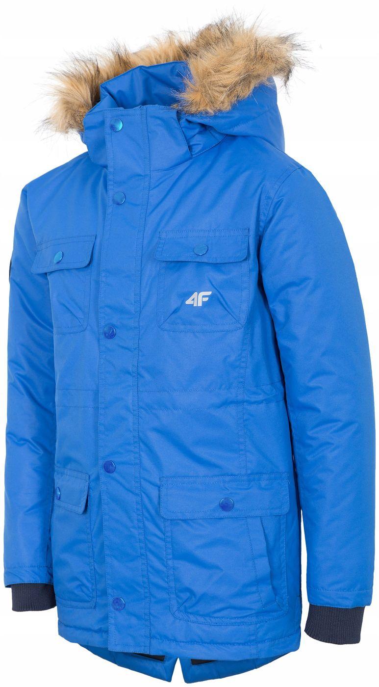 Zimowa kurtka 4f niebieska dla chłopca