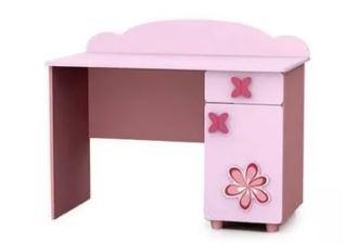 Różowe biurko dla dziewczynki BAGGI DESIGN BIURKO CINDI