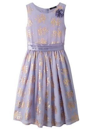 Urocza sukienka dziewczęca na uroczyste okazjefioletowa