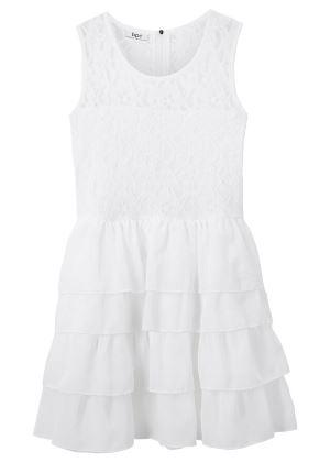 Sukienka koronkowa dla dziewczynek biała
