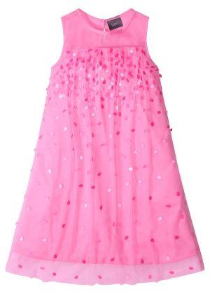 Sukienka na party, z cekinami różowa