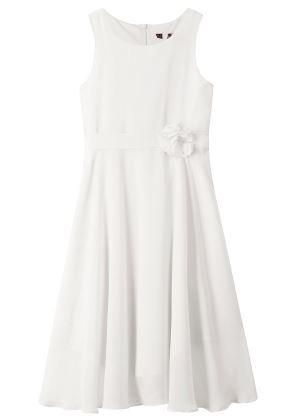 Biała sukienka dla dziewczynkina uroczyste okazje