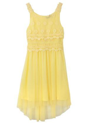 Żółta sukienka na lato dla dziewczynki