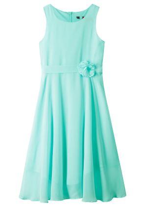 Miętowa sukienka dla dziewczynkina uroczyste okazje