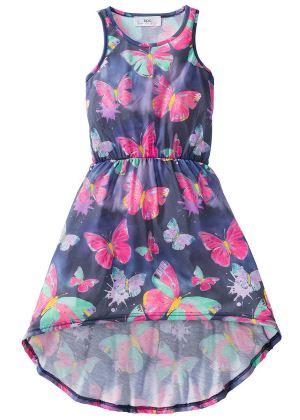 Dziewczęca sukienka z nadrukiem w motyle