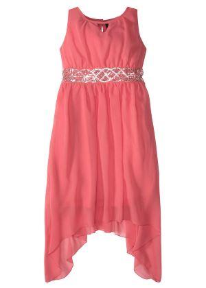 Sukienka z cekinami koralowa