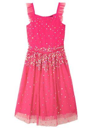 Różowa sukienka z cekinami dla dziewczynki