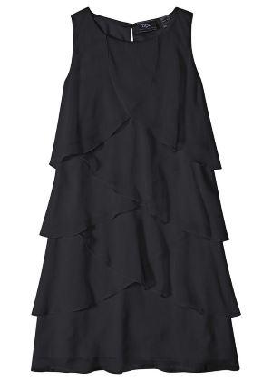 Urocza sukienka z falbanami czarna