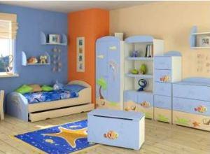 Meble do pokoju dziecięcego BAGGI DESIGN BLUE LAGOON niebieskie